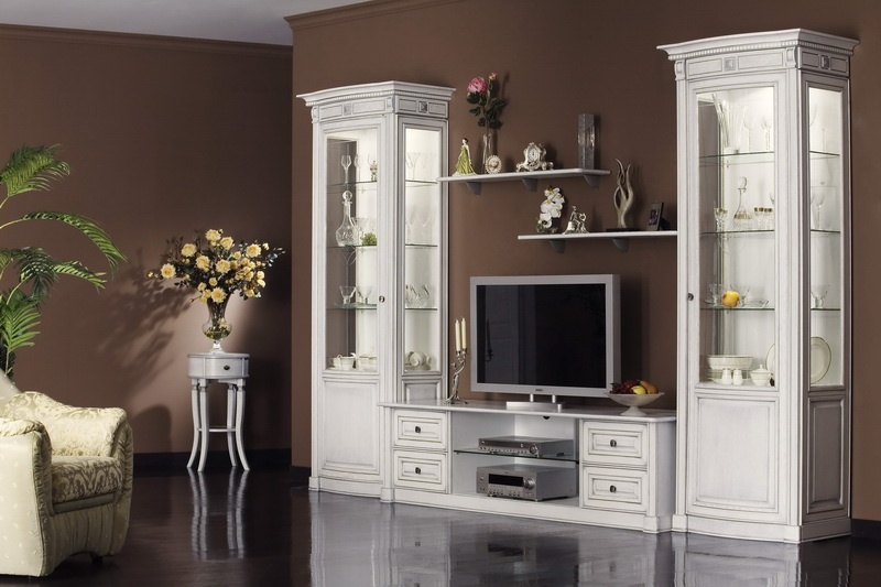 Белая Мебель В Гостиную Фото В Москве