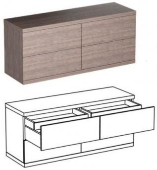 Комод горизонтальный Д1522*Г520*В660 Фабрика Кострома мебель.  БАГ.